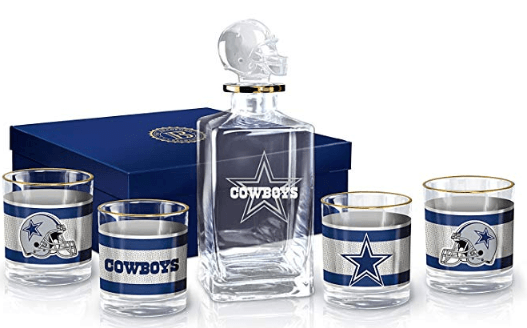 Dallas Cowboys Decanter Set