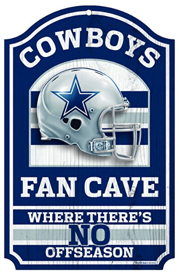 Dallas Cowboys Man Cave Sign