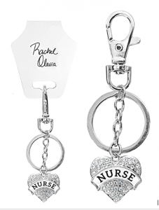 Engraved Nurse Key Chain