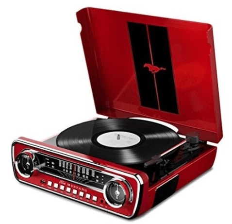 Ford Mustang Retro Record Player