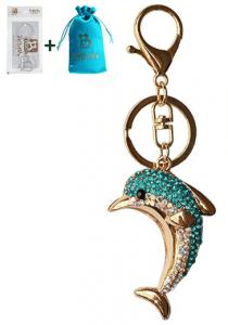 Rhinestone Dolphin Key Chain