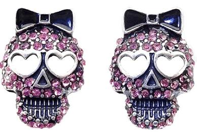 Sugar Skull Crystal Earrings